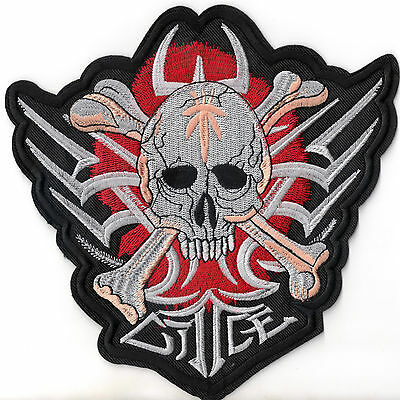 bad good skulls patch xl r ckenaufn her badge biker. Black Bedroom Furniture Sets. Home Design Ideas