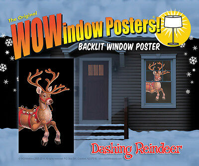 Morris Costumes Dashing Decorations & Props Reindeer Window Covers. WW00108