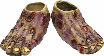 Morris Costumes New Zombies Motif Undead Latex Feet One Size. TB25337