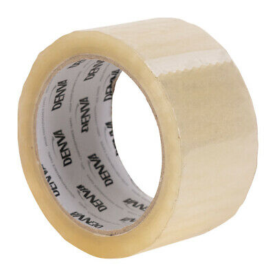 """72 x """"Denva"""" Branded STRONG Clear Parcel Packing Tape box sealing 48mm x 66m"""