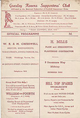 GRESLEY ROVERS v BELPER ~ 22 SEPTEMBER 1956