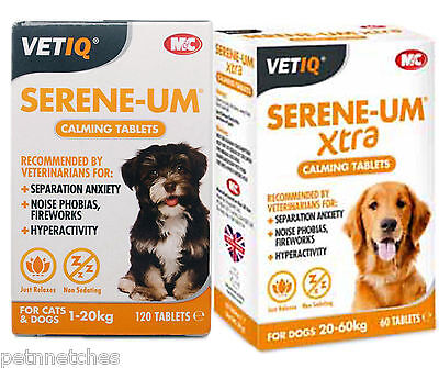 Vetiq Serene-Um Calming Tablets Dogs & Cats For Anxiety Fireworks Hyperactivity!