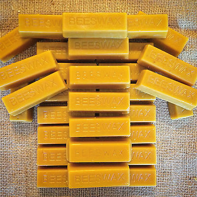 32 Pure Beeswax blocks - 100% pure and natural beeswax