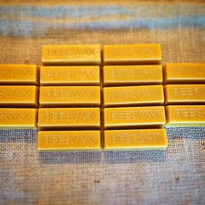 16 Natural Beeswax bars (1lb) Finest Quality, Best Price Bees wax