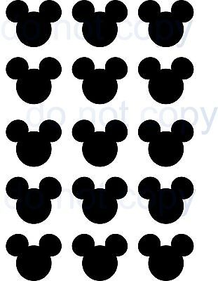 15 Mickey Mouse Childrens wall deca stickers  Heads  Stickers for walls windows,