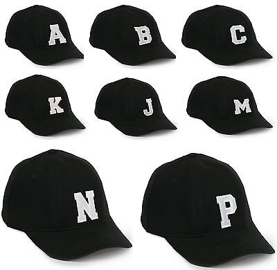 Casual Cotton Baseball Cap A-Z Alphabet letter Caps adjustable Strap Snapback