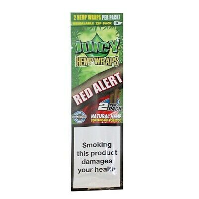 2 PACKS X2 sheets JUICY JAYS DOUBLE BLUNT  STRAWBERRY -CIGAR ROLLING PAPER