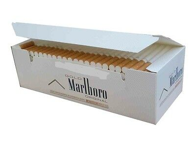 Empty Cigarette 1 BOX Marlboro Gold Original King Size Tubes 200