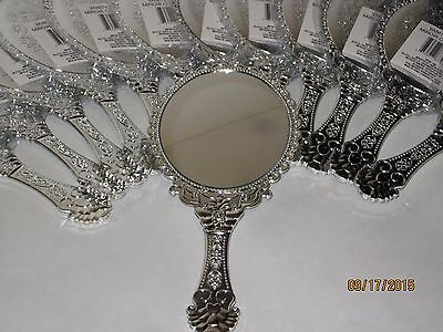 Vintage Style Silver Vanity Mirror - Handheld, Princess Parties, Girls, Makeup