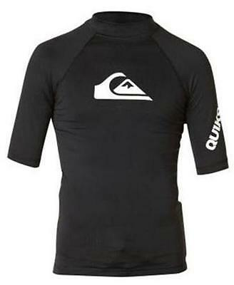 NWT Authentic Quiksilver All Time Swim Rashguard Youth Size Large 14/16  UPF 50+