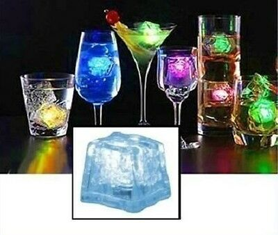 NEU LED Party Eiswürfel Multicolor Farbwechsel Cocktail inkl. Batterie