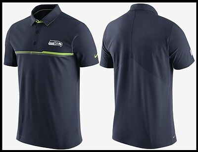 NWT85 Men S~M~L Nike NFL Seattle Seahawks OnField Elite Coaches Polo Golf/Office