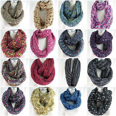 US SELLER-boho chic 4pc wholesale  double loop knit infinity scarf loop scarf