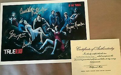 True Blood - AUTHENTIC Signed by 5 cast members w/ Certificate of Authenticity