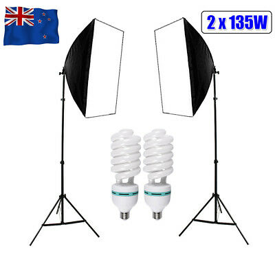 1350W Photography Softbox Continuous Lighting Screen Soft Box Light Stand Kit AU