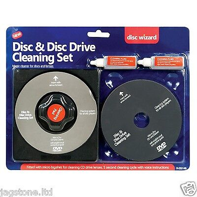 CD/DVD Disc LENS CLEANER/CLEANING SET TOR LAPTOP COMPUTER PS2 PS3 PS4 WII XBOX