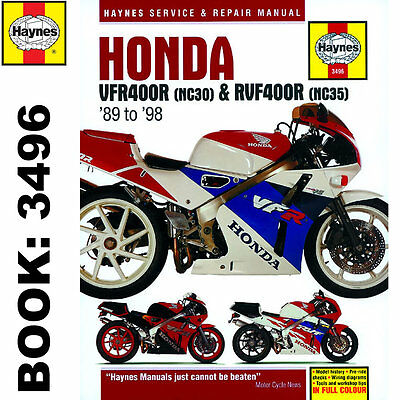 Honda VFR400 NC30 RVF400 NC35 V-Fours 1989-98 Haynes Workshop Manual