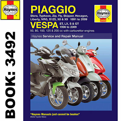 Piaggio Vespa Scooters 1991-2009 Haynes Workshop Manual