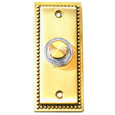 Friedland Illuminated  Wired Solid Brass Door Bell Chime Push Button Press 15776