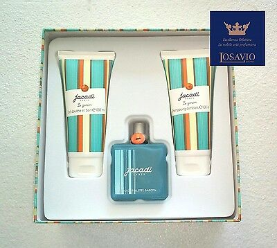 "JACADI PARIS ""Le Garcon"" Set Eau de Toilette ml.100+Douche100+Shamp.100 * RARO *"