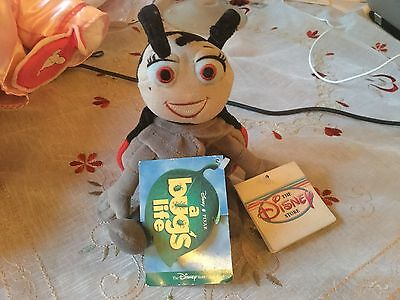 """Official Disney Its A Bugs Life Ladybird 8"""" Soft Toy Plush With Tags"""