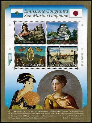 SAN MARINO MNH 2010 Paintings - Joint Issue with Japan