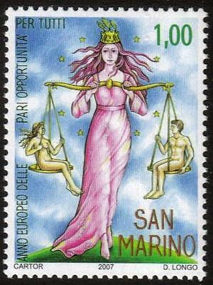 SAN MARINO MNH 2007 European Year of Equal Opportunities for All