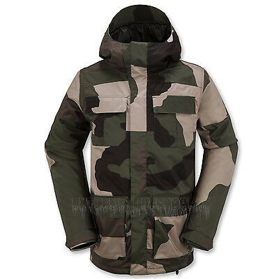 VOLCOM Mens 2016 Snowboard Camouflage ALTERNATE INSULATED JACKET