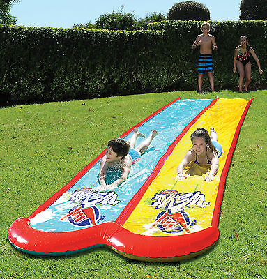 Wahu Mega Double Lane Water Slide 7.5m Backyard Party Summer Toy
