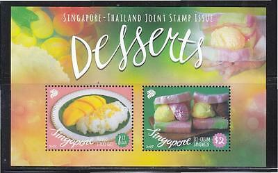 Singapore 2015 Thailand Joint Issue (Local Delight Desserts) Sheet 2 Stamps Mint