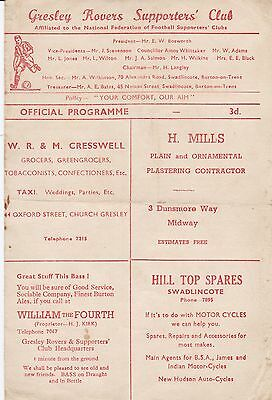 GRESLEY ROVERS v SUTTON TOWN ~ 1955~56