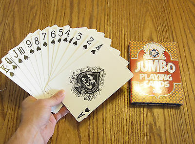 1 New Deck Of Jumbo Playing Cards Giant Large Plastic Coated Poker Card Decks