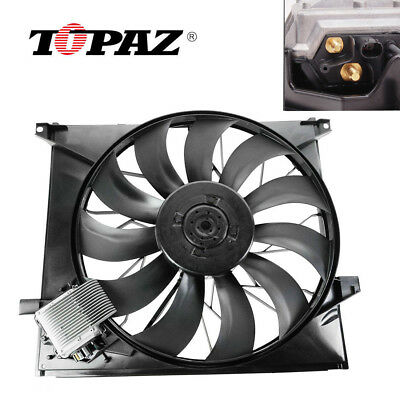 Radiator Cooling Fan Assembly for Mercedes Benz 163 ML55 AMG 00-03 1635000293