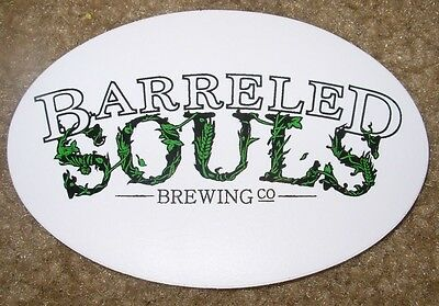 BARRELED SOULS BREWING CO Saco Maine STICKER craft beer brewery brewing