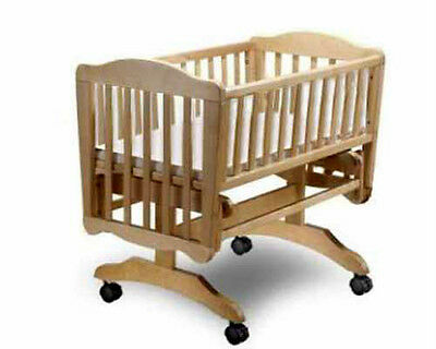 Baby Cradle With Wheels Nursery Furniture Bed, Woodworking Plans