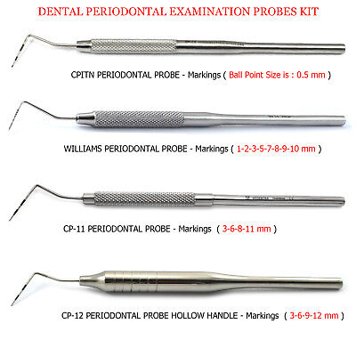 Clinical Periodontist Probes Dental Examination CP-12,Williams,CP-11 CPITN Probe