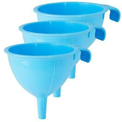 Plastic Funnel 3pc Set Small Size Blue