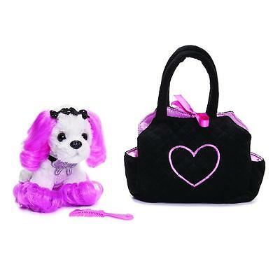 Princess of Beverly Hills Plush and Carrier Set- Cute 90210 Dog - Comb Included!