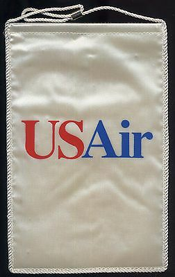 US Air USAir airlines desk flag (pennant) mint condition (no stand) box001