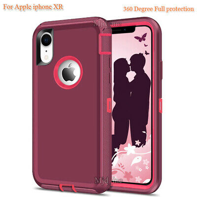 For iphone Xr Defender Full protection Case Cover Fits Otter box