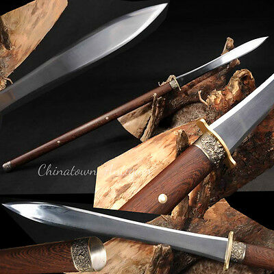 Martial arts KUNG-FU Spear sword knife Hand Forged High Carbon Steel sharp #2316