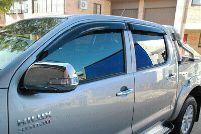 Premium Weather Shield Window Visors Weathershield tosuit Toyota Hilux 2005-2014