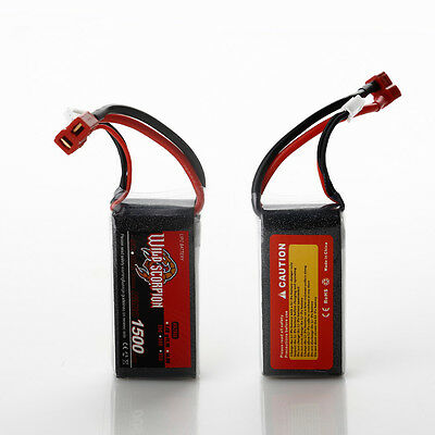Wild Scorpion 11.1V 1500mAh 25C 3S Lipo Li-Poly Battery Pack for RC Helicopter