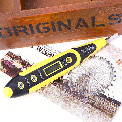 1pcs 12-250V AC DC Digital Voltage Detector Tester Pen LED Light Electric Sensor