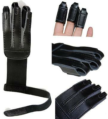 New Soft Cow Leather Three Finger Guard Archery Protector Hunting Recurve Bows