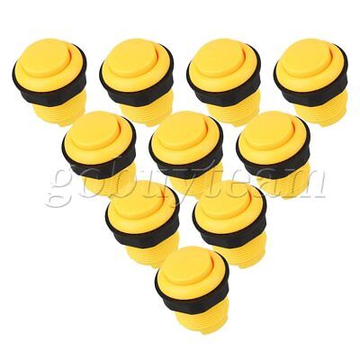 10x 28mm Yellow Push Button Replace OBSF-28 Buttons For Arcade Joystick