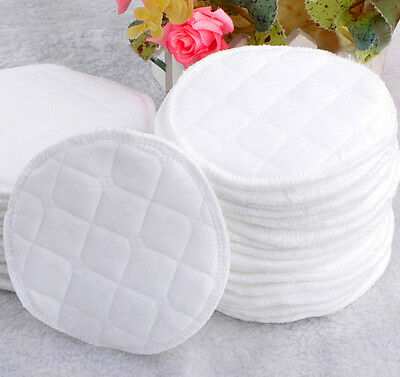 12pcs New Arrival Natural Cotton Disposable Washable Soft Absorbent Feeding Pads