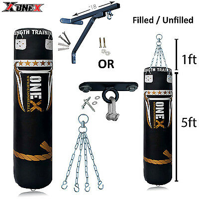 Heavy DutyPunching Boxing Punch Bag Filled/Unfilled Bracket,Chain,Hook,MMA