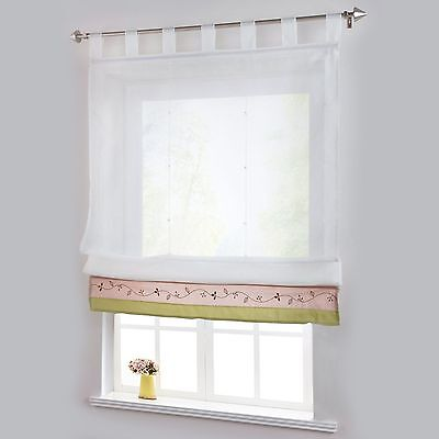 1 PCS Window Curtain Tab Top Sheer Door Curtains for Living Room