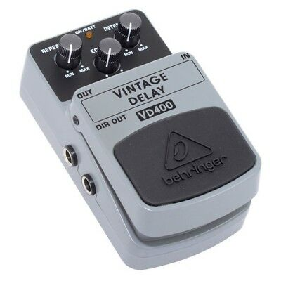 BEHRINGER VINTAGE DELAY VD400 deelay analogico a pedale con switch on/off NUOVO